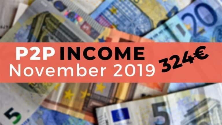 P2P Lending Income November 2019