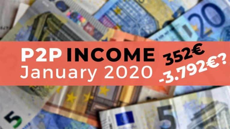 P2P Lending Income January 2020