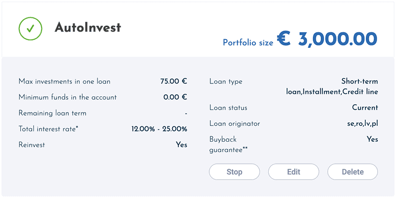 viainvest auto invest settings 2020