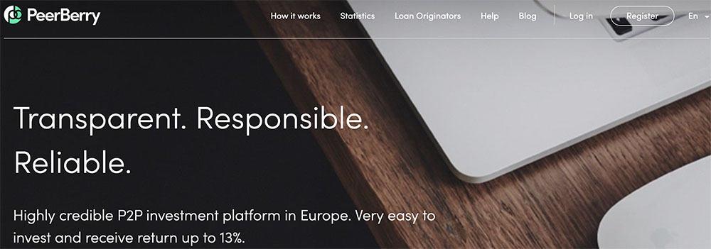 Peerberry homepage