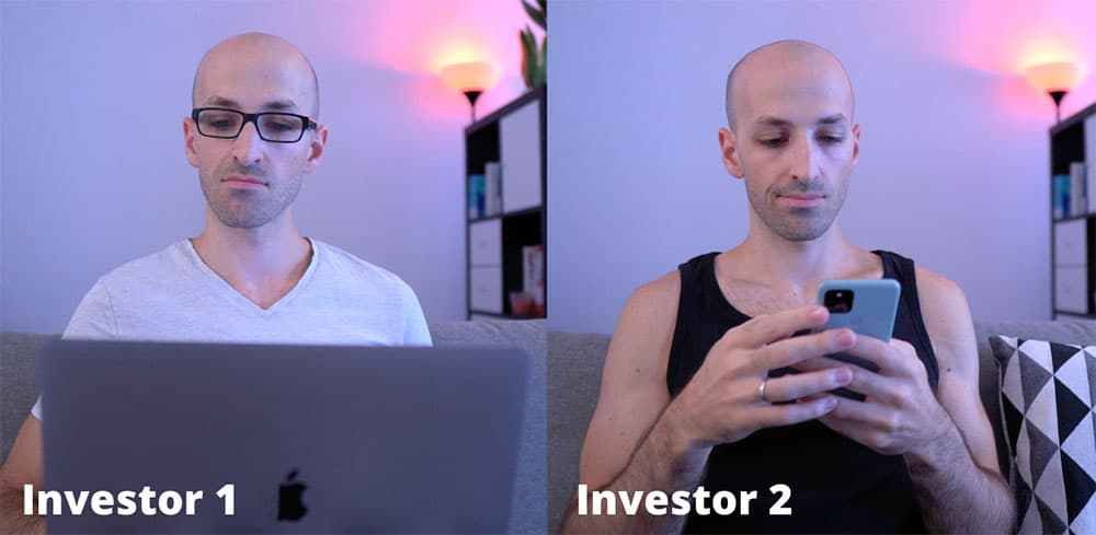 story of two etf investors